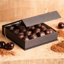 Dumon Cerisettes (Cherries) in Black Presentation Box