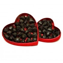 Cerisettes (Cherries) in Red Velvet Heart Box