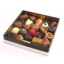 Dumon Belgium Chocolates in a White Presentation Box