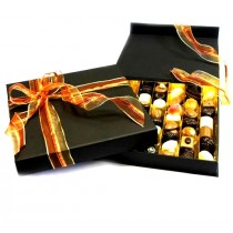 larger image Dumon Belgium Chocolates in a Black Presentation Box