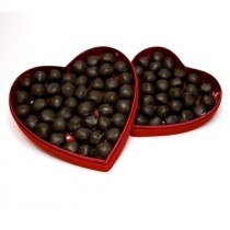 Dumon Chocolate Gingers in Red Velvet Heart Box