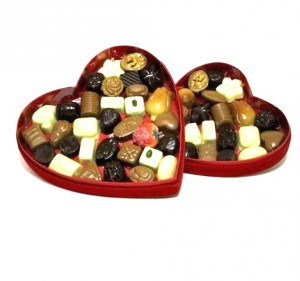 Dumon Chocolates in Red Velvet Heart Box