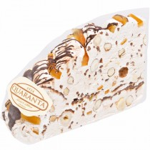 Soft Nougat Slice with Dark Chocolate and Candied Orange Peels
